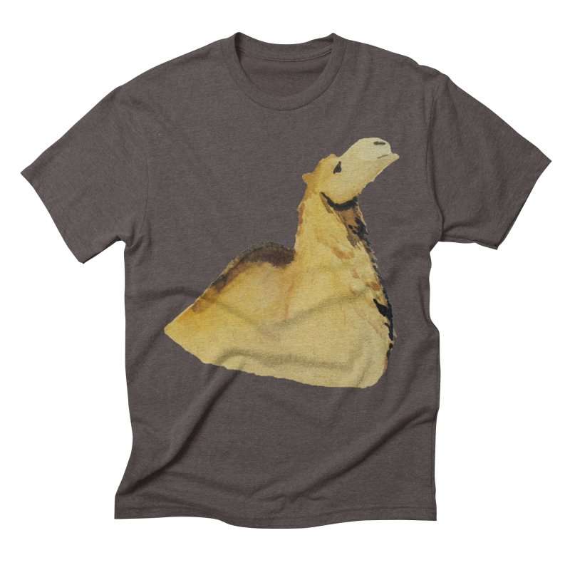 Watercolor Camel Portrait Men's Triblend T-Shirt by The Wilderness Store