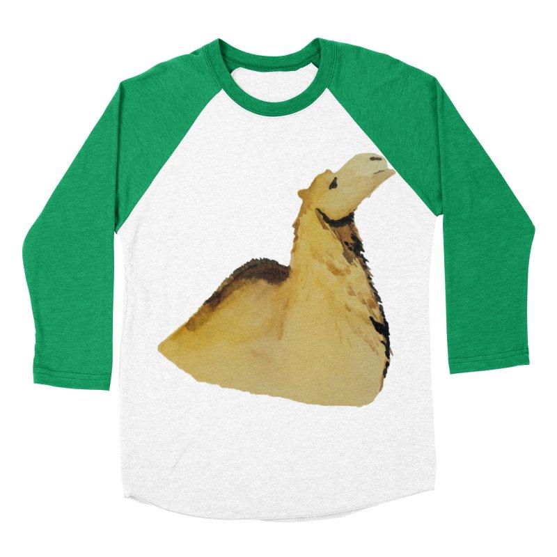 Watercolor Camel Portrait Men's Baseball Triblend Longsleeve T-Shirt by The Wilderness Store
