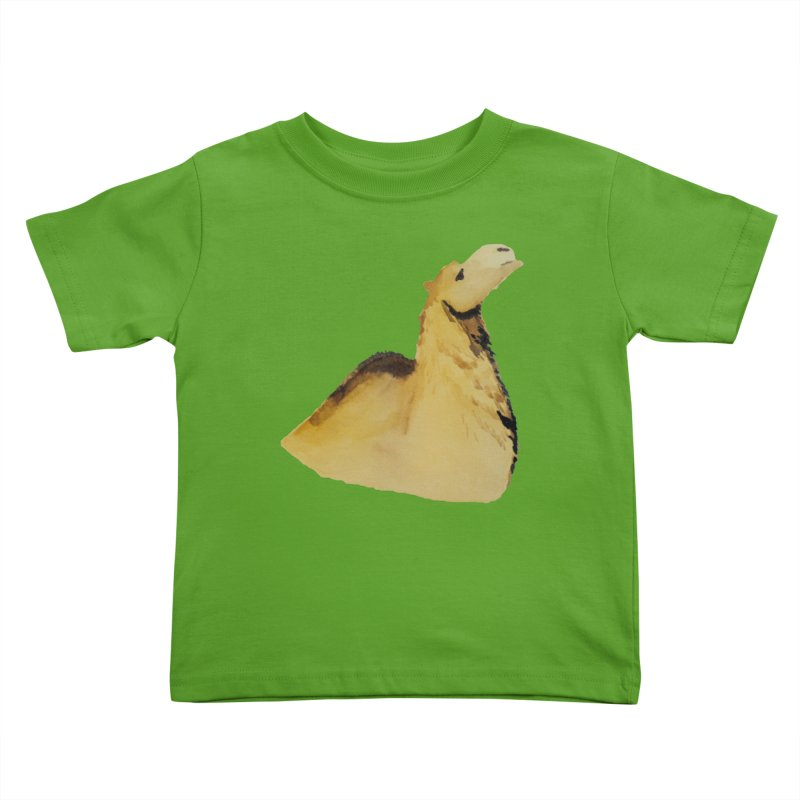 Watercolor Camel Portrait Kids Toddler T-Shirt by The Wilderness Store