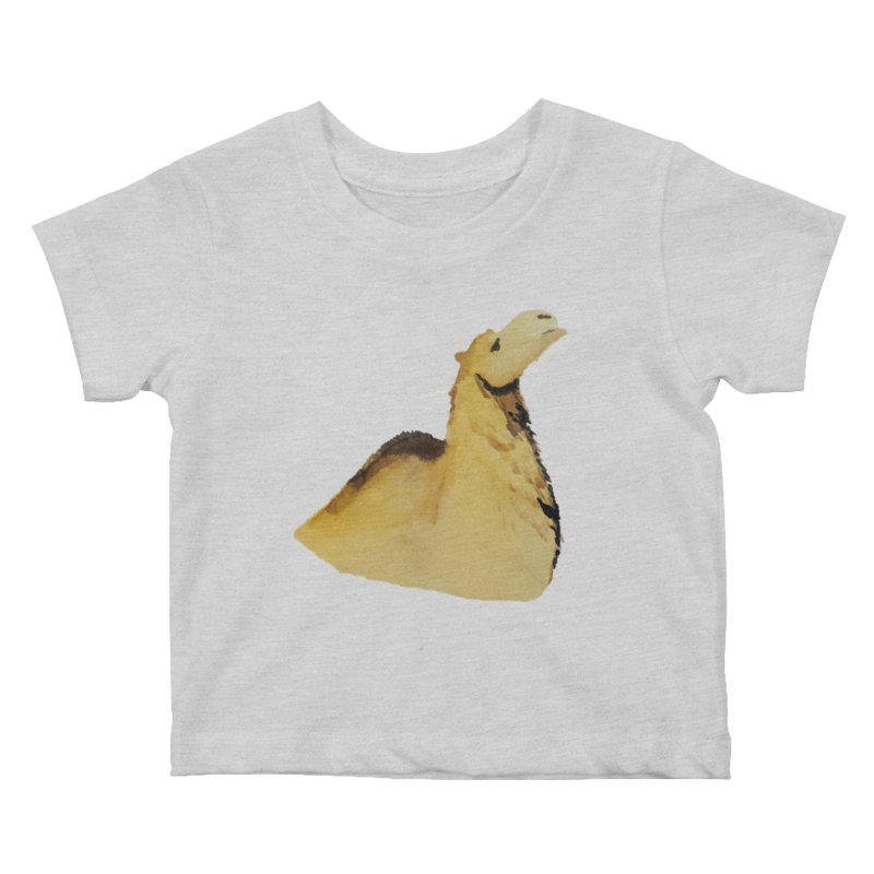 Watercolor Camel Portrait Kids Baby T-Shirt by The Wilderness Store