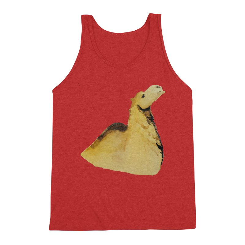 Watercolor Camel Portrait Men's Triblend Tank by The Wilderness Store