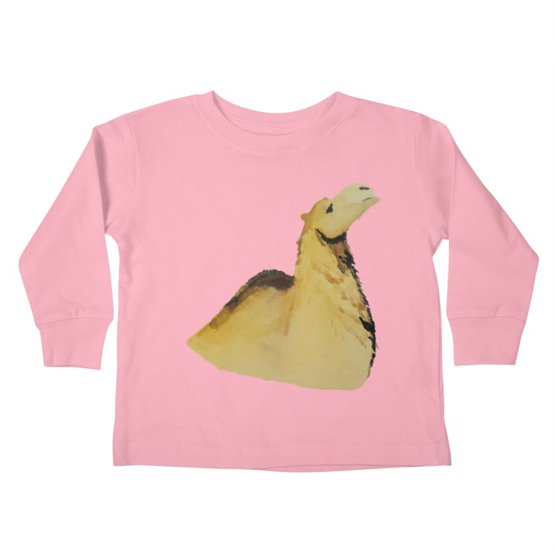 Watercolor Camel Portrait Kids Toddler Longsleeve T-Shirt by The Wilderness Store
