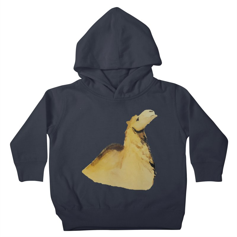 Watercolor Camel Portrait Kids Toddler Pullover Hoody by The Wilderness Store