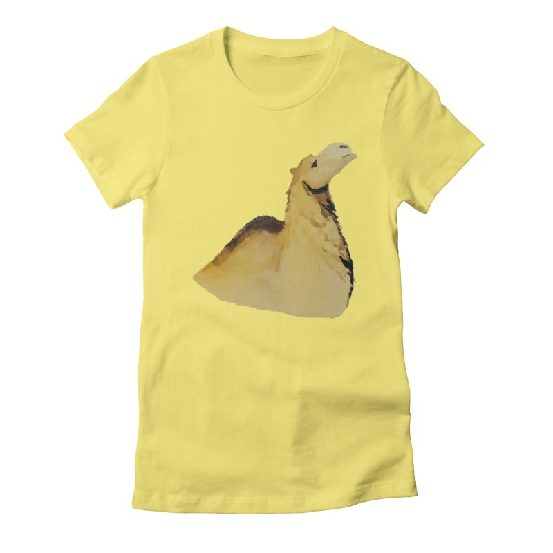 Watercolor Camel Portrait Women's Fitted T-Shirt by The Wilderness Store