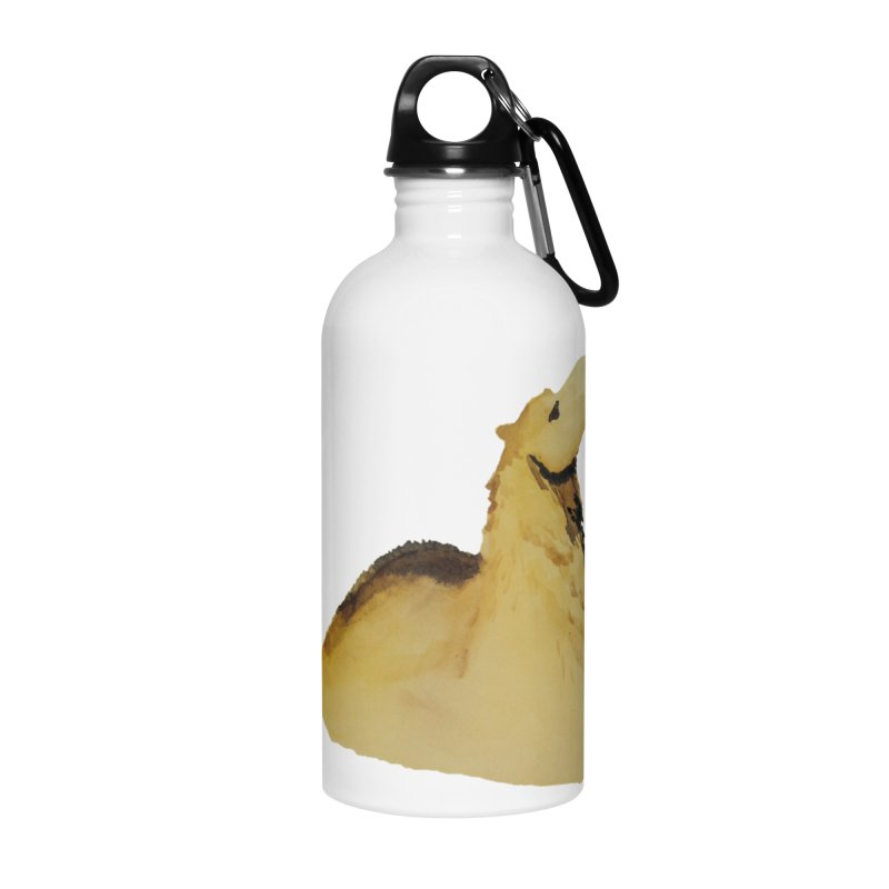 Watercolor Camel Portrait Accessories Water Bottle by The Wilderness Store