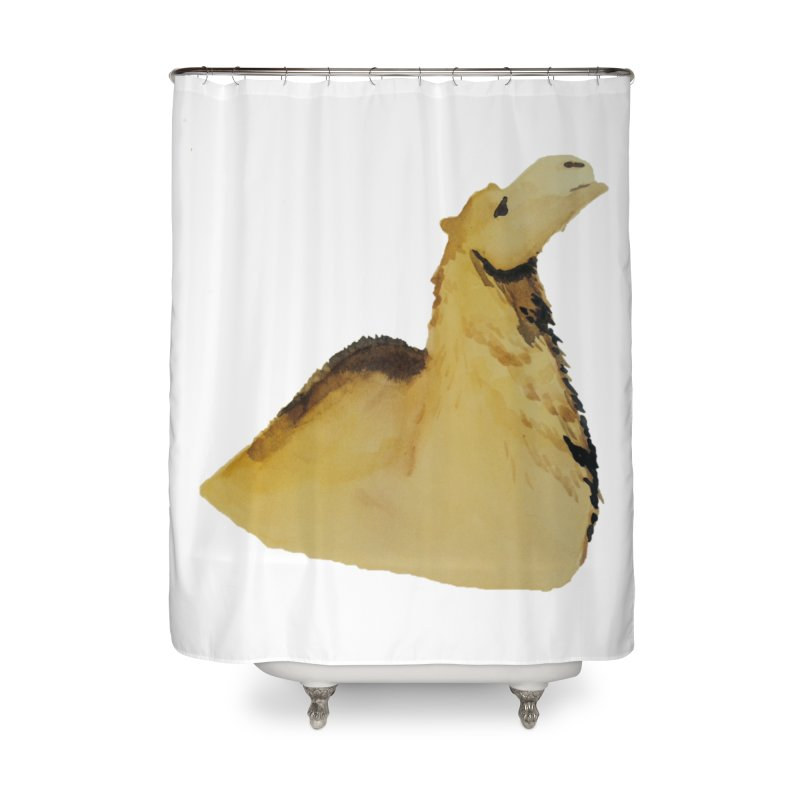 Watercolor Camel Portrait Home Shower Curtain by The Wilderness Store