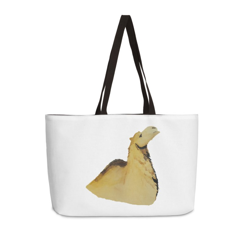 Watercolor Camel Portrait Accessories Weekender Bag Bag by The Wilderness Store