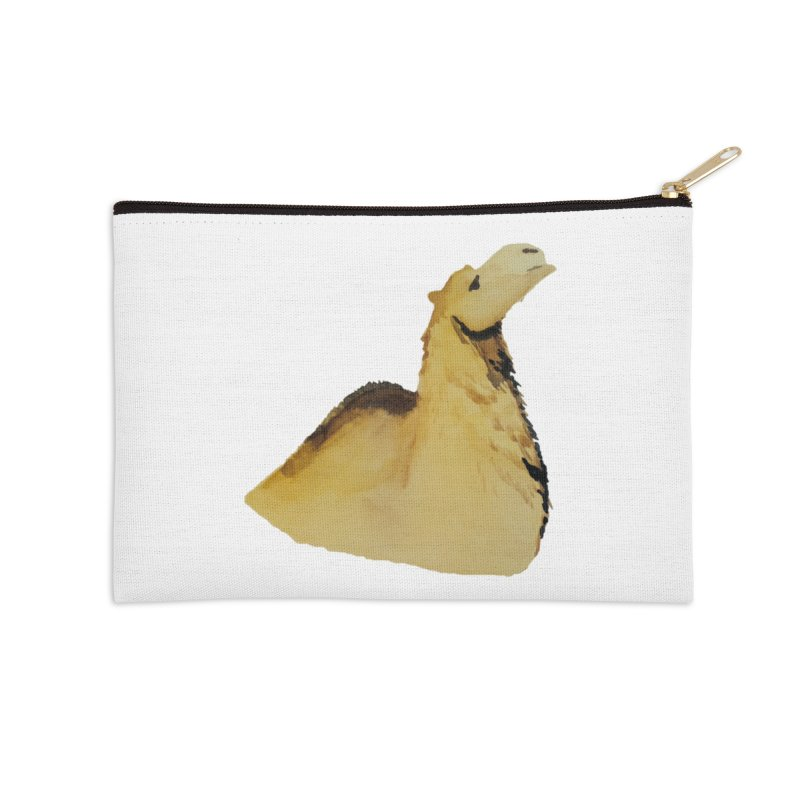 Watercolor Camel Portrait Accessories Zip Pouch by The Wilderness Store
