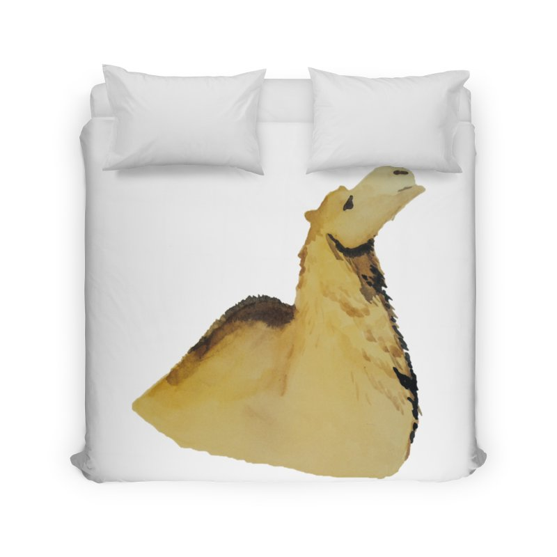 Watercolor Camel Portrait Home Duvet by The Wilderness Store