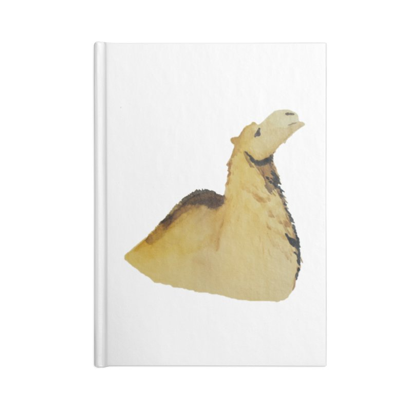 Watercolor Camel Portrait Accessories Lined Journal Notebook by The Wilderness Store