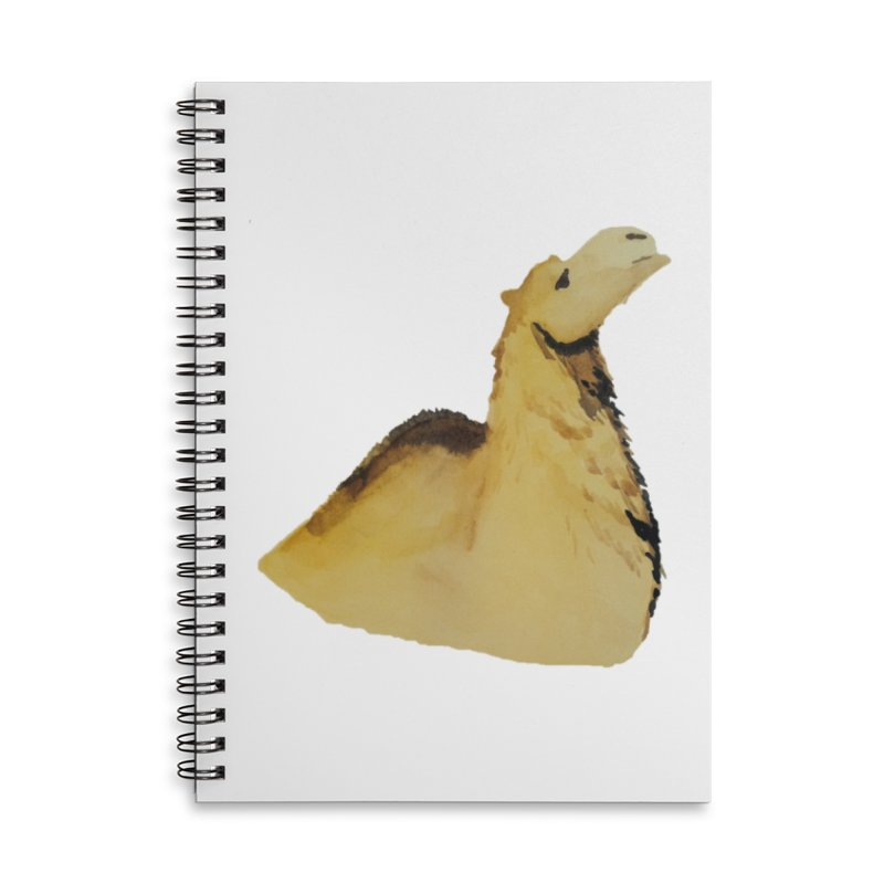 Watercolor Camel Portrait Accessories Lined Spiral Notebook by The Wilderness Store