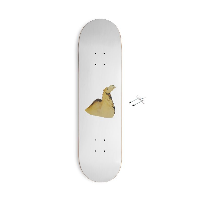 Watercolor Camel Portrait Accessories With Hanging Hardware Skateboard by The Wilderness Store