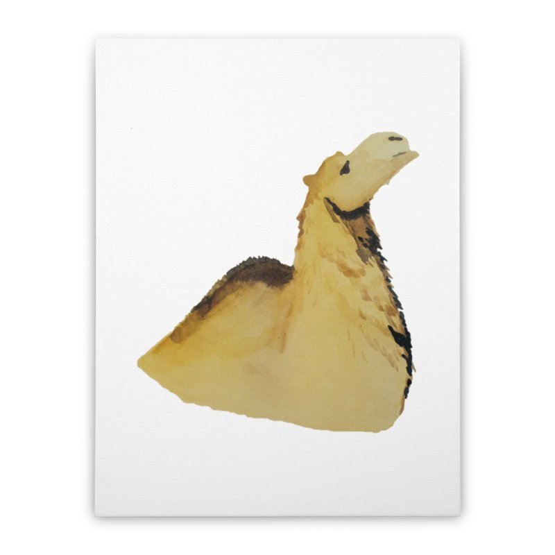 Watercolor Camel Portrait Home Stretched Canvas by The Wilderness Store