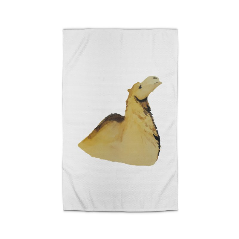 Watercolor Camel Portrait Home Rug by The Wilderness Store