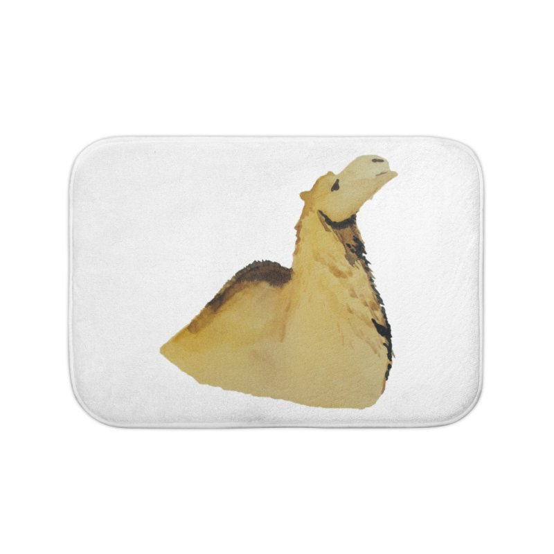 Watercolor Camel Portrait Home Bath Mat by The Wilderness Store