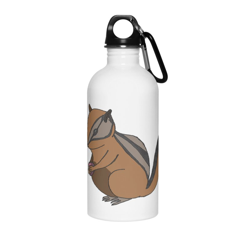 Chipmunk with Berry Accessories Water Bottle by The Wilderness Store