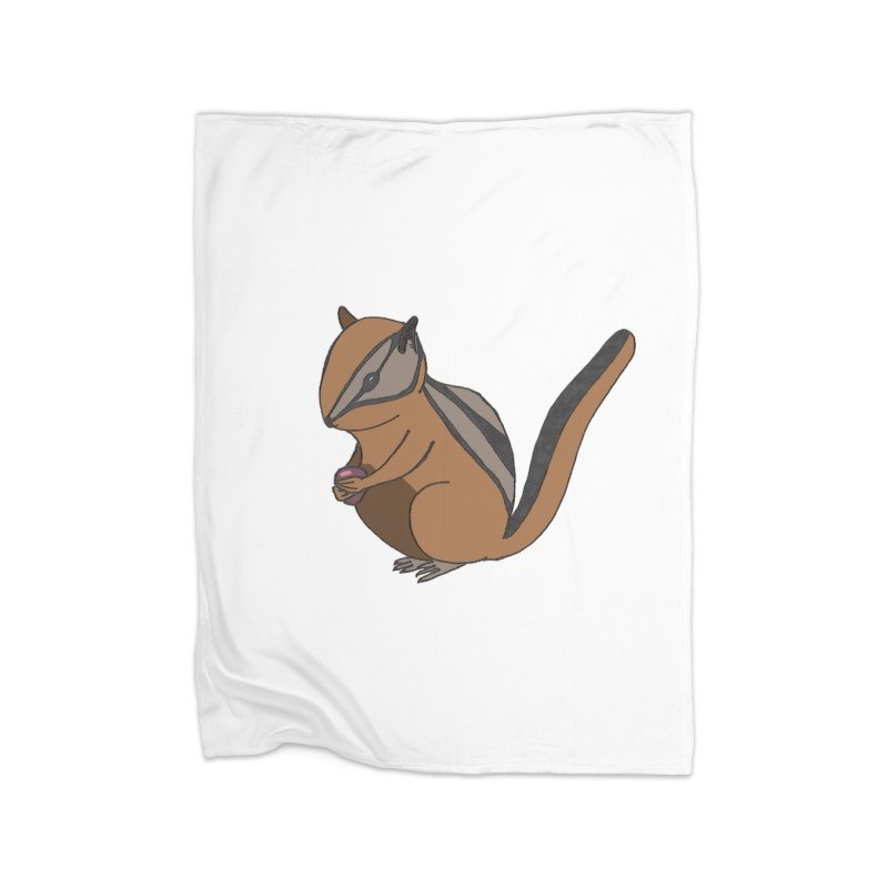 Chipmunk with Berry Home Blanket by The Wilderness Store