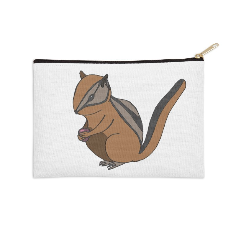 Chipmunk with Berry Accessories Zip Pouch by The Wilderness Store