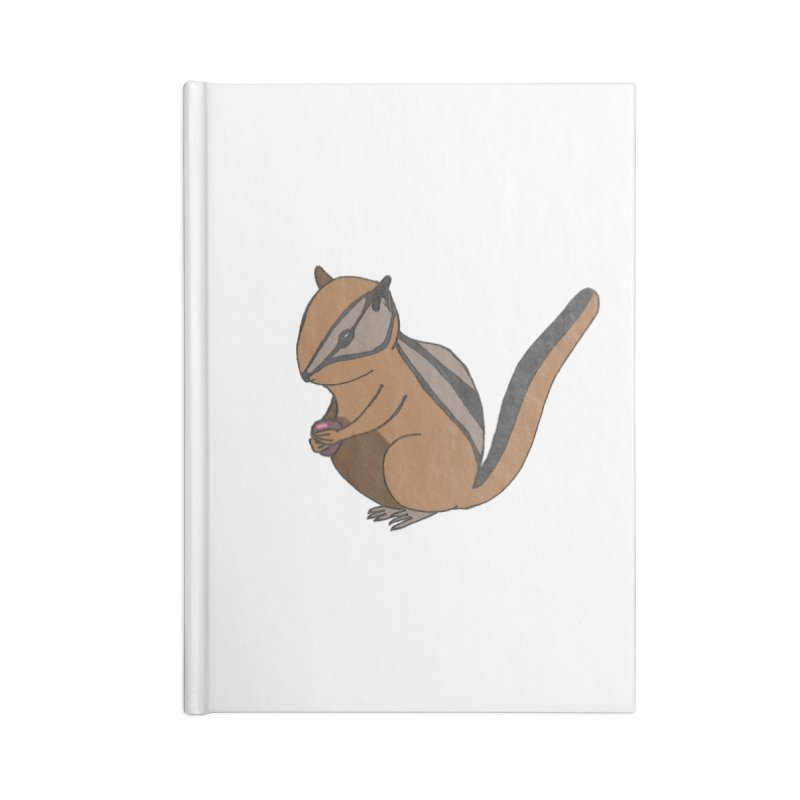 Chipmunk with Berry Accessories Notebook by The Wilderness Store
