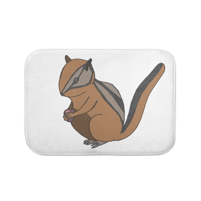 Chipmunk with Berry Home Bath Mat by The Wilderness Store