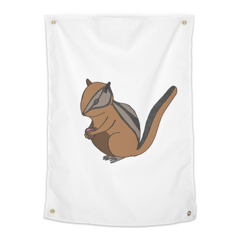 Chipmunk with Berry Home Tapestry by The Wilderness Store