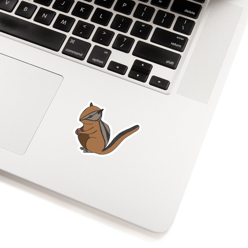 Chipmunk with Berry in White Sticker by The Wilderness Store