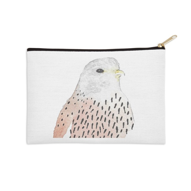 Watercolor Kestrel Accessories Zip Pouch by The Wilderness Store