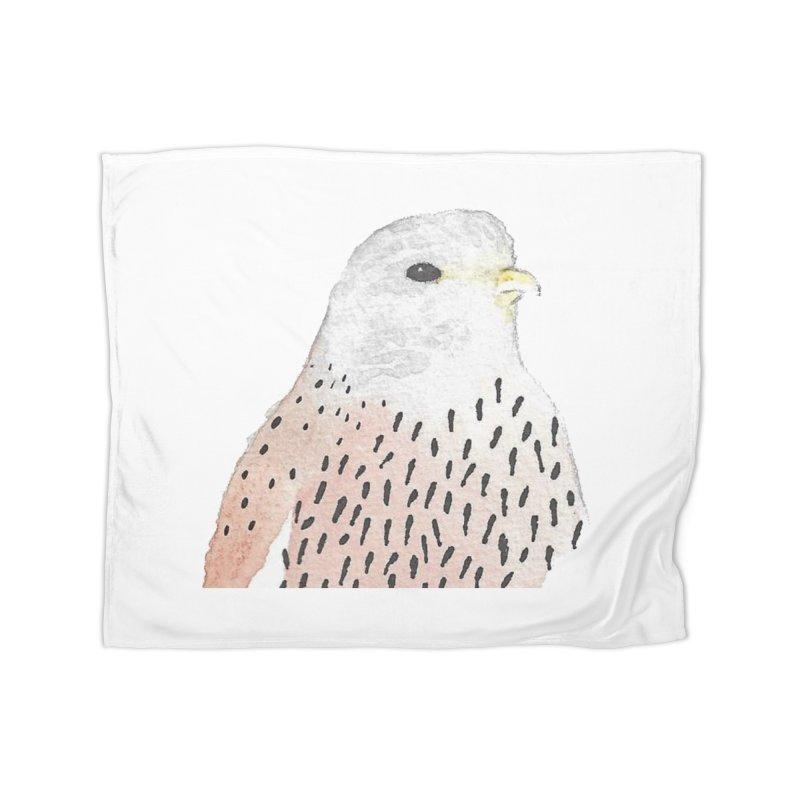 Watercolor Kestrel Home Fleece Blanket Blanket by The Wilderness Store