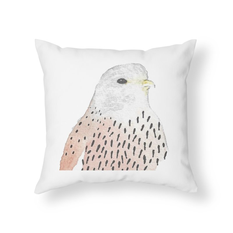 Watercolor Kestrel Home Throw Pillow by The Wilderness Store