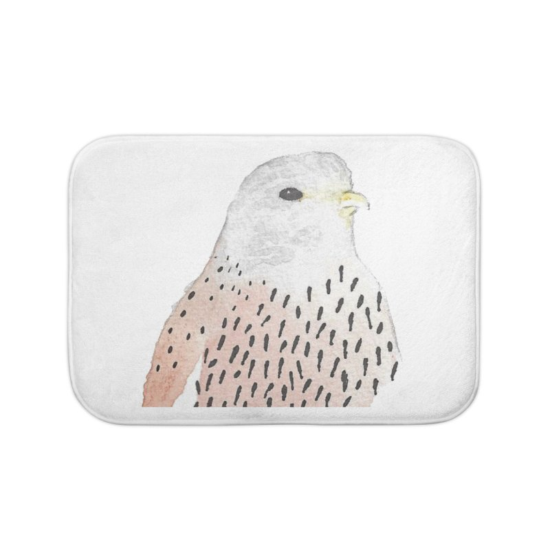Watercolor Kestrel Home Bath Mat by The Wilderness Store