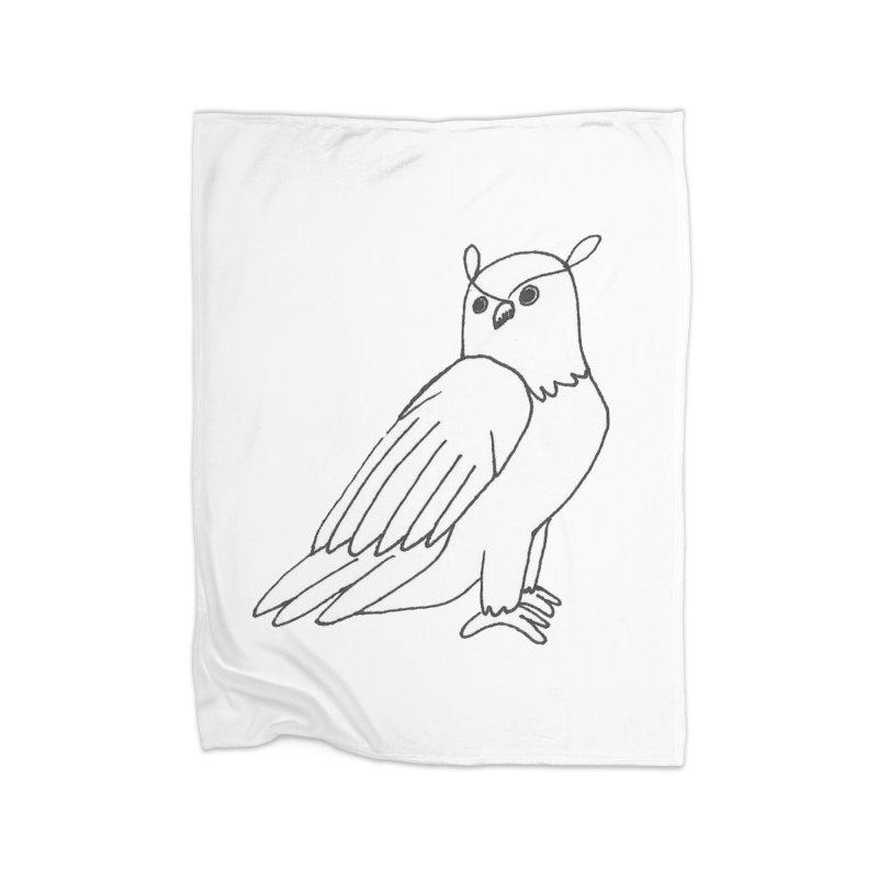 Majestic Eagle Owl Home Fleece Blanket Blanket by The Wilderness Store