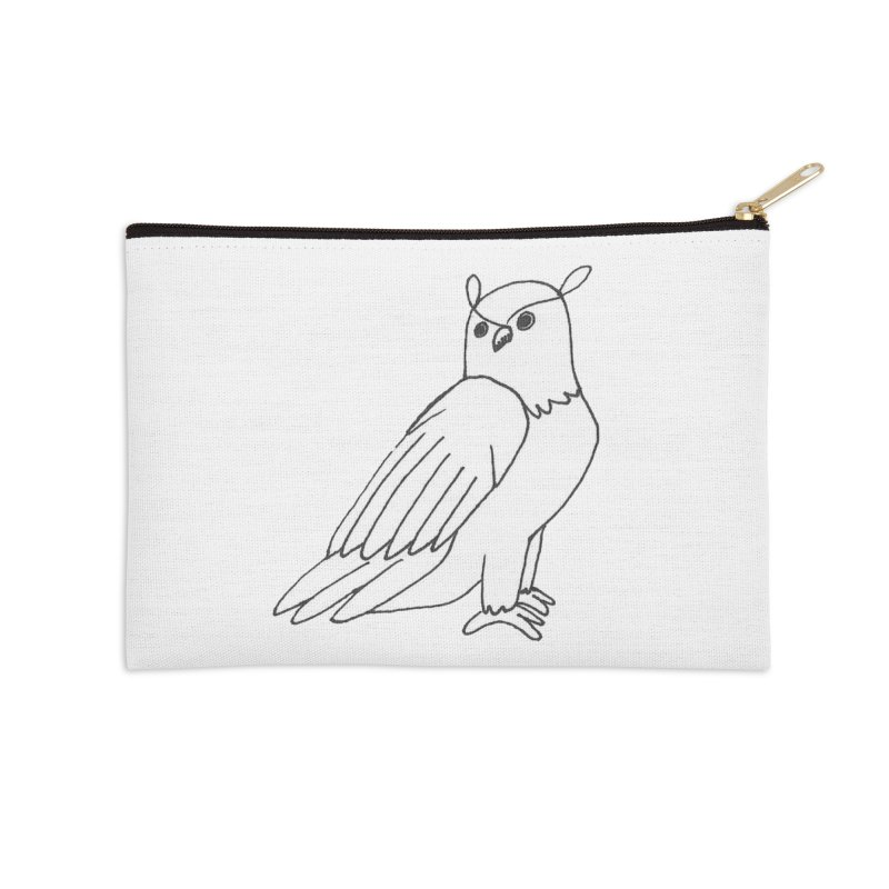 Majestic Eagle Owl Accessories Zip Pouch by The Wilderness Store