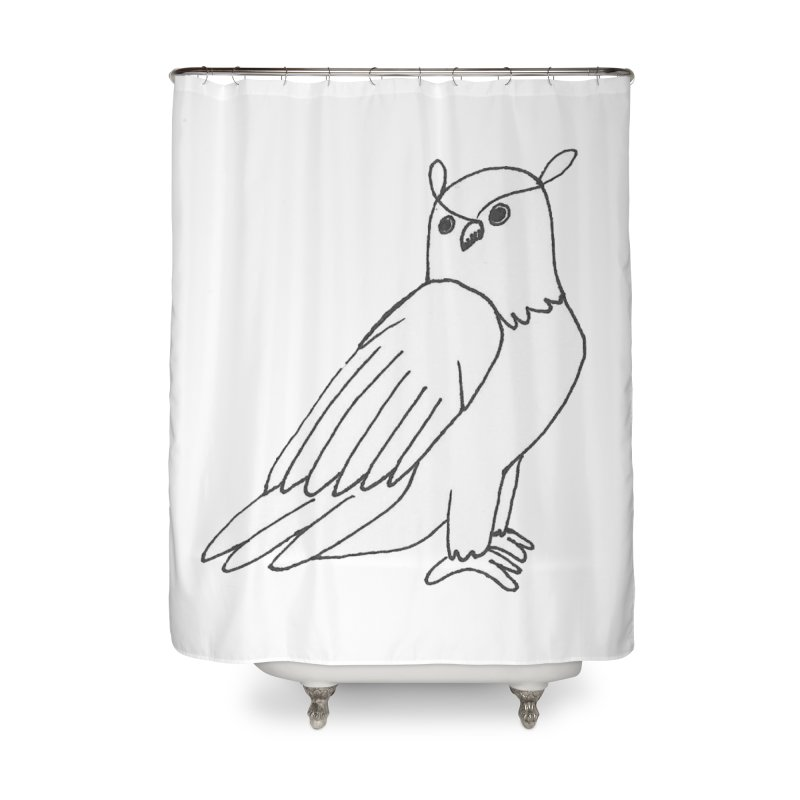 Majestic Eagle Owl Home Shower Curtain by The Wilderness Store