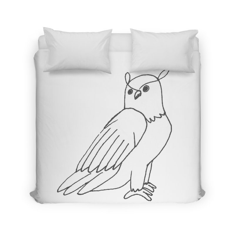 Majestic Eagle Owl Home Duvet by The Wilderness Store