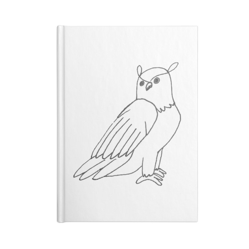 Majestic Eagle Owl Accessories Notebook by The Wilderness Store