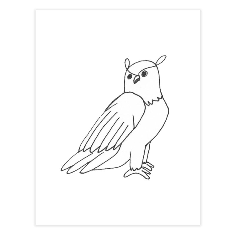 Majestic Eagle Owl Home Fine Art Print by The Wilderness Store