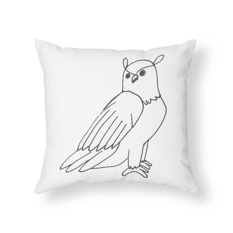 Majestic Eagle Owl Home Throw Pillow by The Wilderness Store