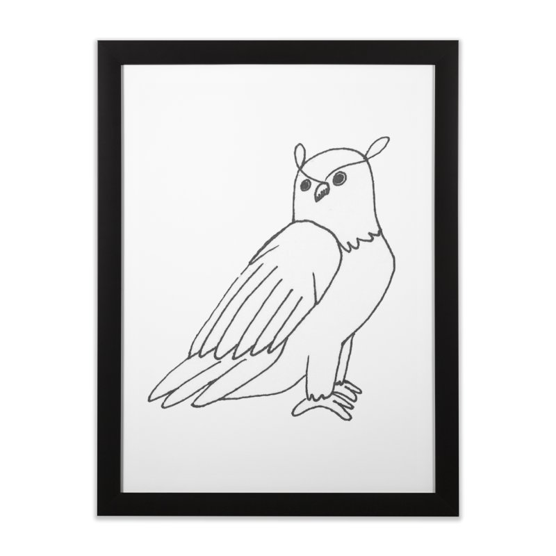 Majestic Eagle Owl Home Framed Fine Art Print by The Wilderness Store