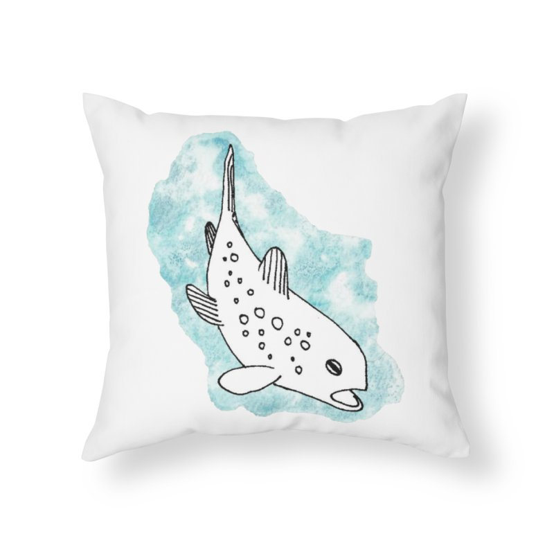 Spotted Brown Trout Home Throw Pillow by The Wilderness Store