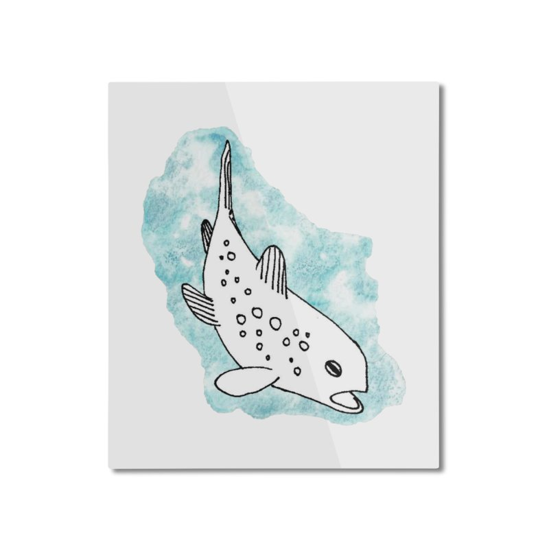 Spotted Brown Trout Home Mounted Aluminum Print by The Wilderness Store