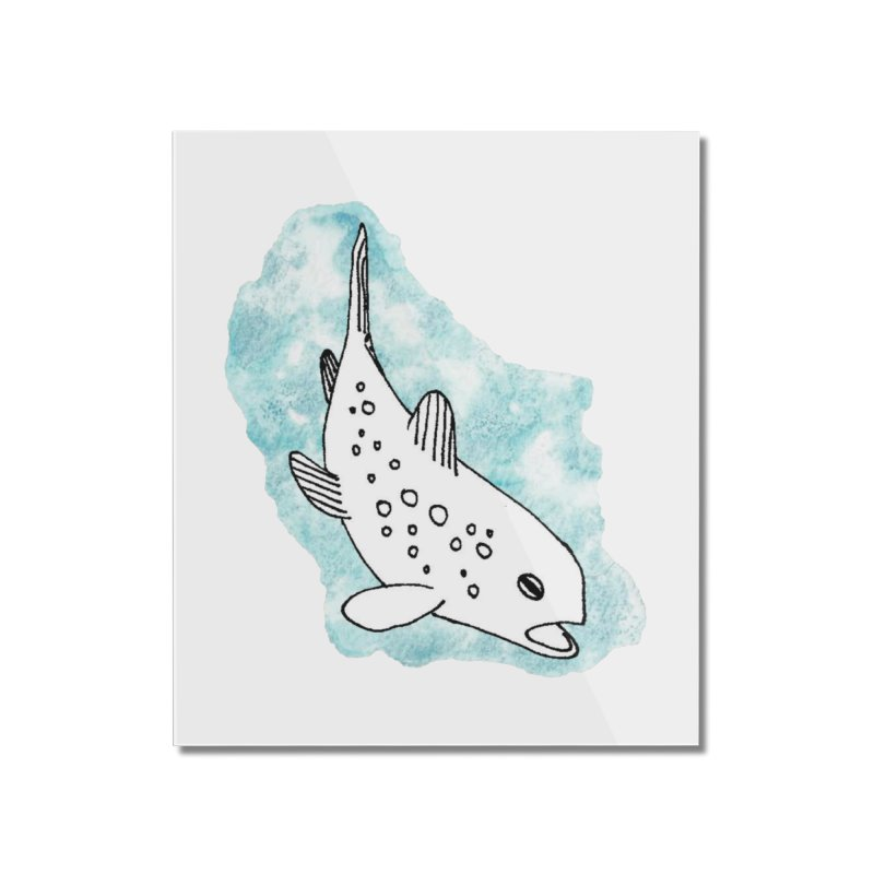 Spotted Brown Trout Home Mounted Acrylic Print by The Wilderness Store