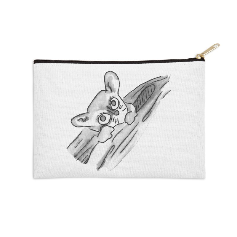Ink Mouse Lemur Accessories Zip Pouch by The Wilderness Store