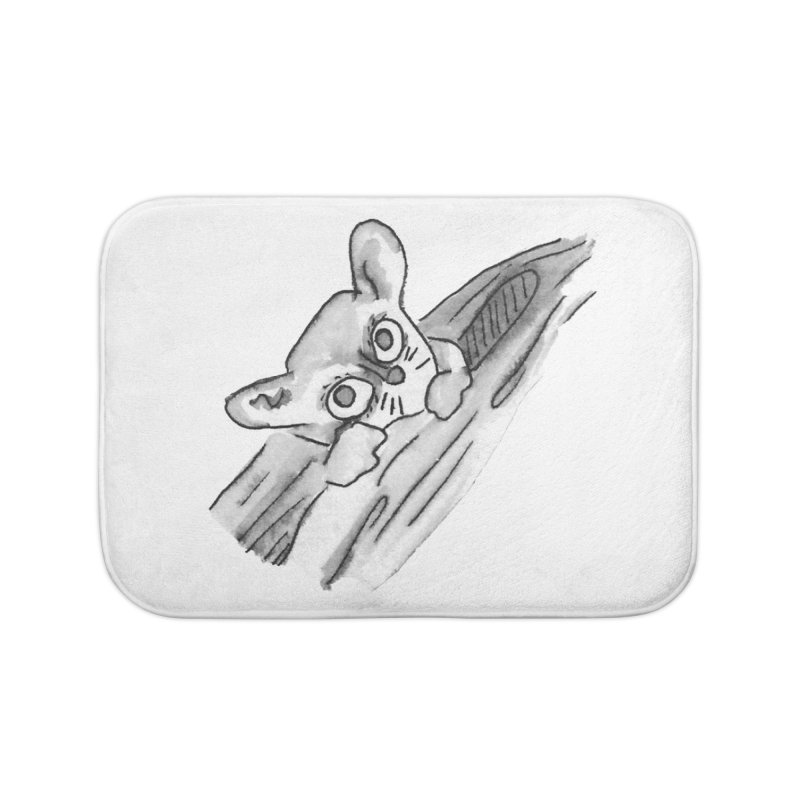 Ink Mouse Lemur Home Bath Mat by The Wilderness Store