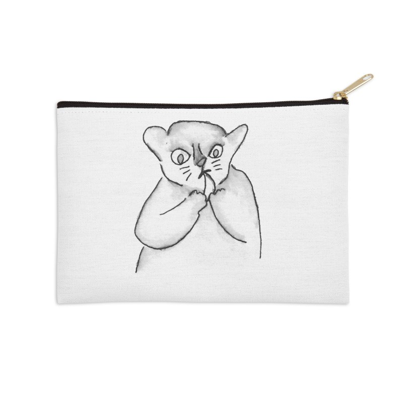 Ink Mouse Lemur with Snack Accessories Zip Pouch by The Wilderness Store