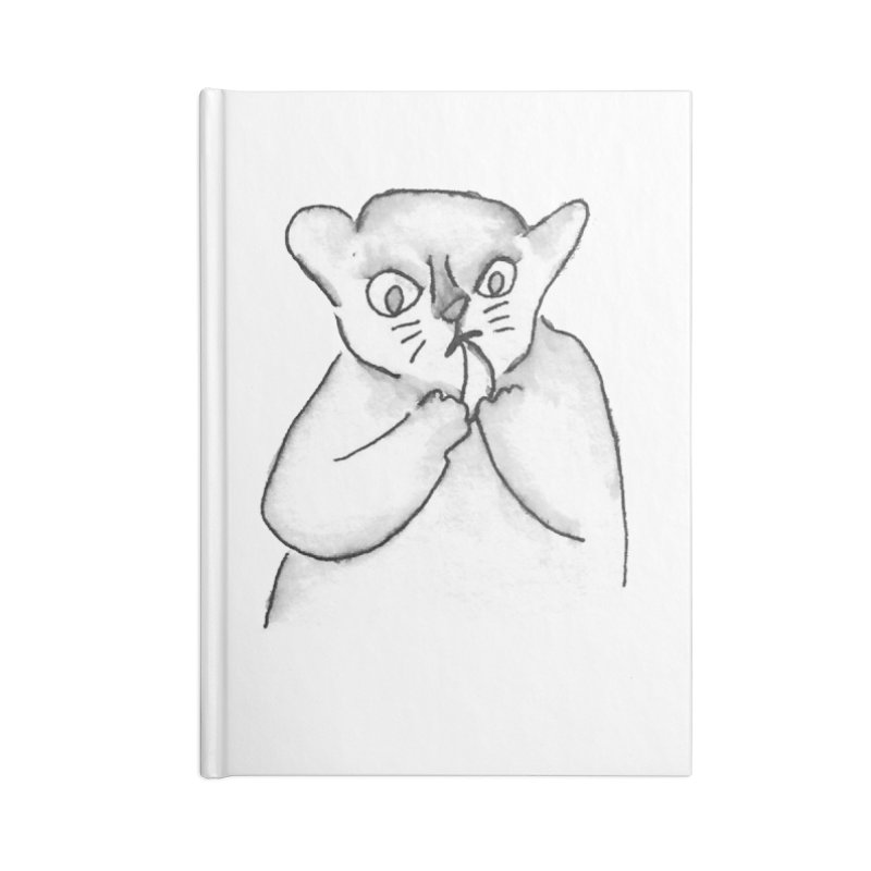 Ink Mouse Lemur with Snack in Blank Journal Notebook by The Wilderness Store