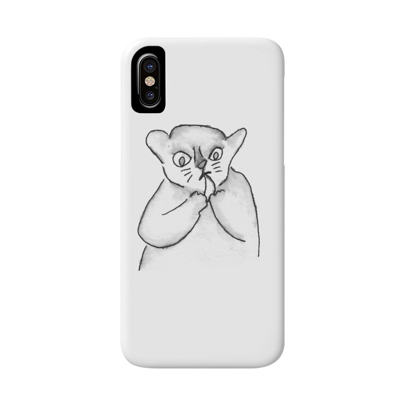 Ink Mouse Lemur with Snack Accessories Phone Case by The Wilderness Store