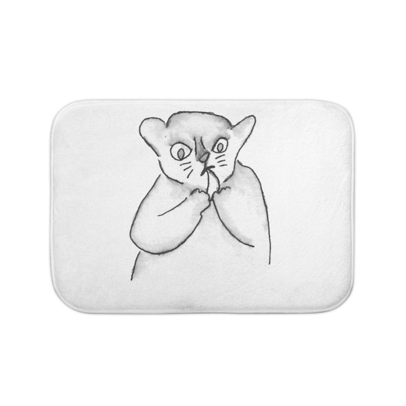 Ink Mouse Lemur with Snack Home Bath Mat by The Wilderness Store