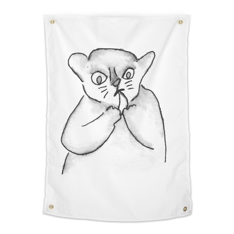 Ink Mouse Lemur with Snack Home Tapestry by The Wilderness Store
