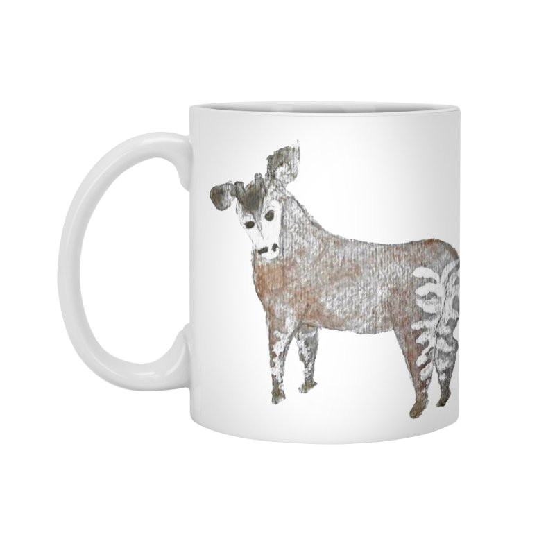 Watercolor Okapi from Behind Accessories Mug by The Wilderness Store