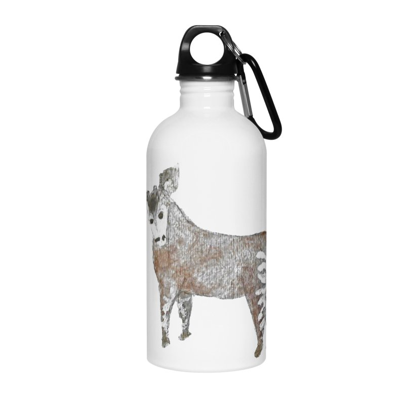 Watercolor Okapi from Behind Accessories Water Bottle by The Wilderness Store